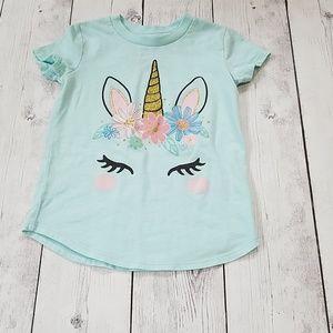 4T girls Unicorn T shirt